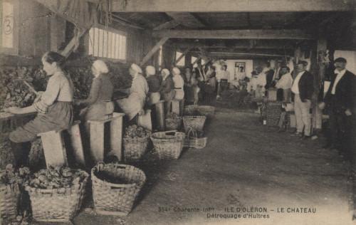 Détrocage des huîtres au début du 20ème siècle